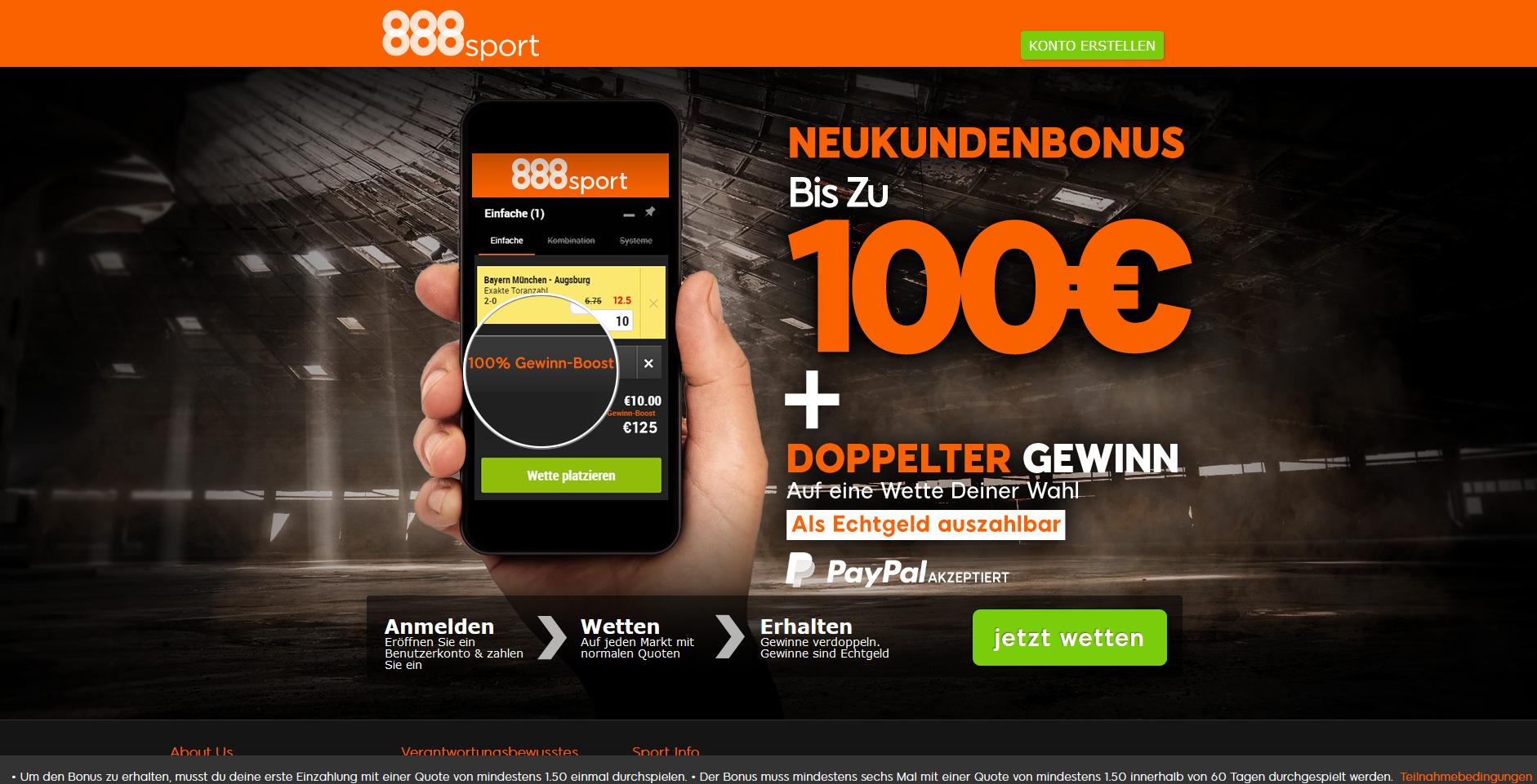 Bonus bei 888sport